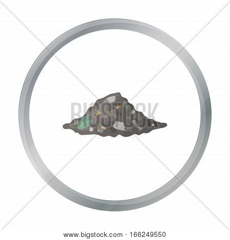 Dump icon in outline design isolated on white background. Bio and ecology symbol stock vector illustration. - stock vector