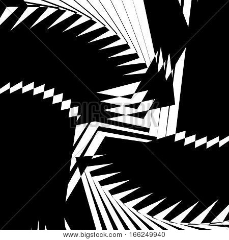 Monochrome Texture, Monochrome Pattern With Random Shapes (lines). Abstract Geometric Illustration