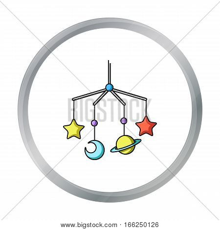 Baby mobile icon in cartoon style isolated on white background. Baby born symbol vector illustration. - stock vector