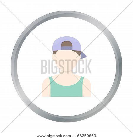 Boy in cap icon cartoon. Single avatar, peaople icon from the big avatar cartoon. - stock vector