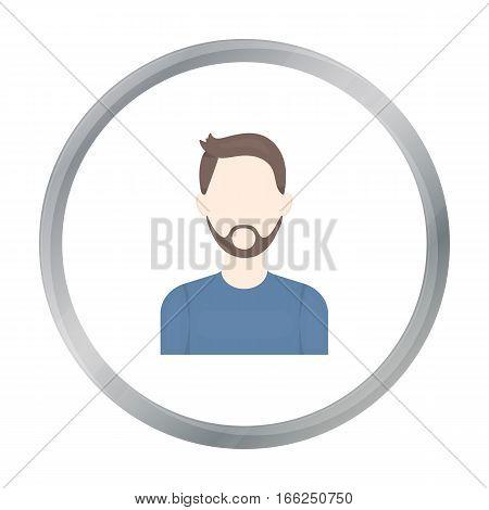 Man with beard icon cartoon. Single avatar, peaople icon from the big avatar cartoon. - stock vector