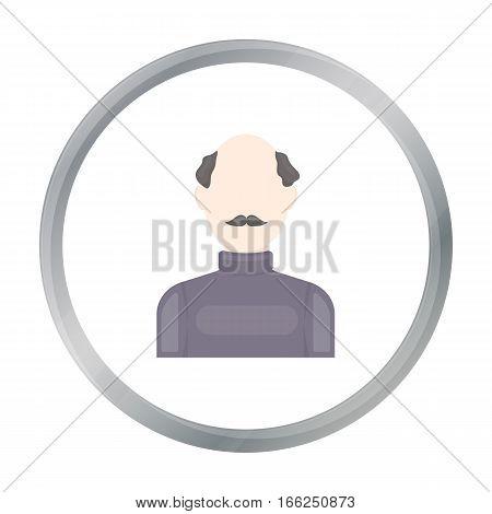 Bald head icon cartoon. Single avatar, peaople icon from the big avatar cartoon. - stock vector