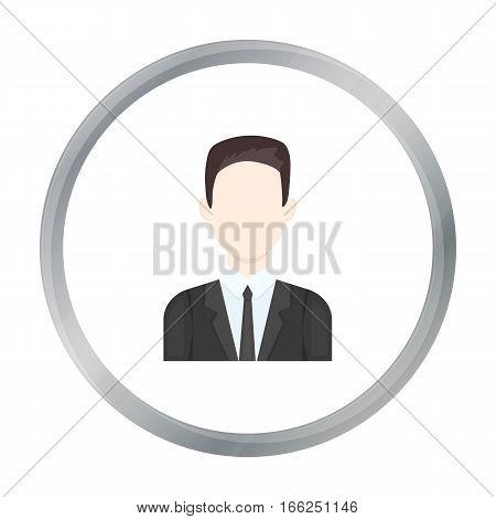 Businessman icon cartoon. Single avatar, peaople icon from the big avatar cartoon. - stock vector
