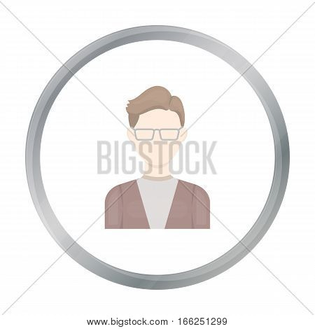 Man with glasses icon cartoon. Single avatar, peaople icon from the big avatar cartoon. - stock vector