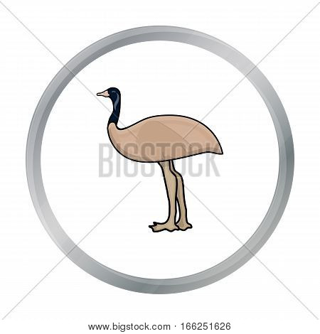 Emu icon in cartoon design isolated on white background. Australia symbol stock vector illustration. - stock vector