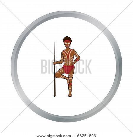 Astralian aborigine icon in cartoon design isolated on white background. Australia symbol stock vector illustration. - stock vector
