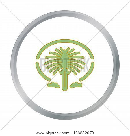 The Palm Jumeirah icon in cartoon style isolated on white background. Arab Emirates symbol vector illustration. - stock vector