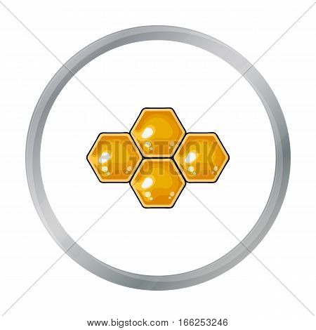Honeycombs icon in cartoon style isolated on white background. Apiary symbol vector illustration - stock vector