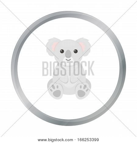 Koala icon cartoon. Singe animal icon from the big animals cartoon. - stock vector