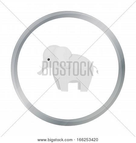 Elephant icon cartoon. Singe animal icon from the big animals cartoon. - stock vector