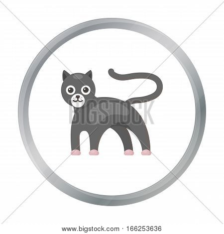 Panther icon cartoon. Singe animal icon from the big animals cartoon. - stock vector