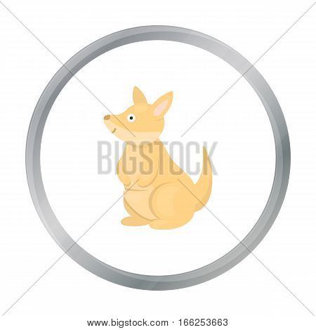 Kangaroo icon cartoon. Singe animal icon from the big animals cartoon. - stock vector
