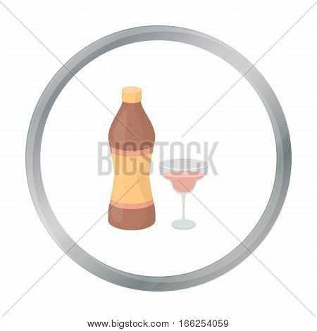 Vermouth icon in cartoon style isolated on white background. Alcohol symbol vector illustration. - stock vector