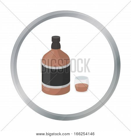 Whiskey icon in cartoon style isolated on white background. Alcohol symbol vector illustration. - stock vector