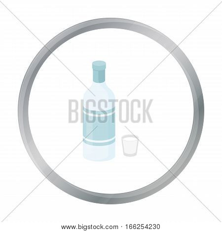 Vodka icon in cartoon style isolated on white background. Alcohol symbol vector illustration. - stock vector