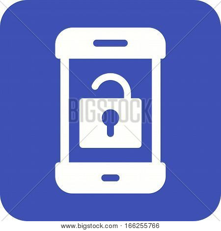 Unlock, open, security icon vector image. Can also be used for smartphone. Suitable for use on web apps, mobile apps and print media.