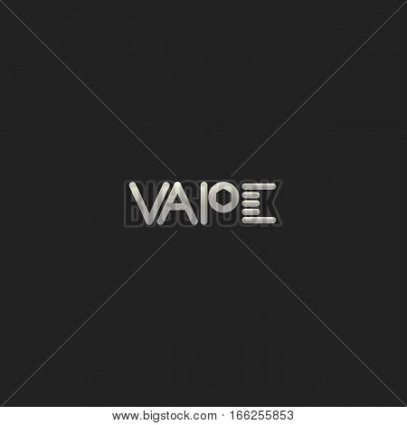 Vapor Coil and Post Logo Template. Isolated.