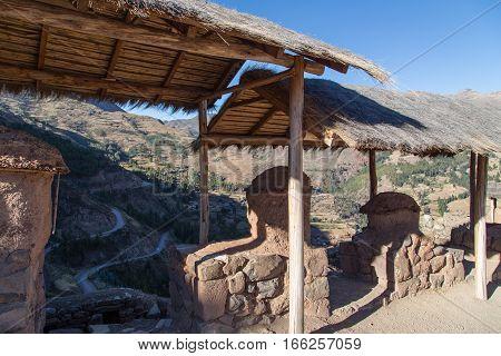 Pisac Inca Ruin at the Sacred Valley, Peru
