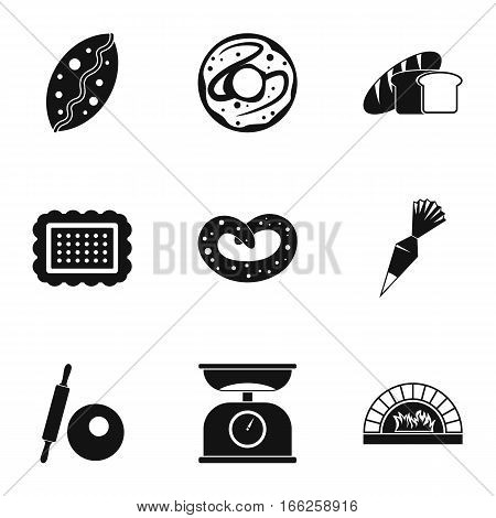 Cakes icons set. Simple illustration of 9 cakes vector icons for web