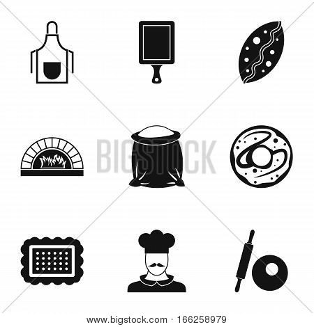Pastries icons set. Simple illustration of 9 pastries vector icons for web