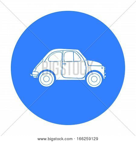 Italian retro car from Italy icon in blue style isolated on white background. Italy country symbol vector illustration.