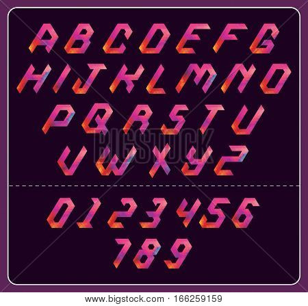 Colorful Polygonal Font