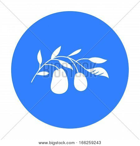 Italian olives from Italy icon in blue style isolated on white background. Italy country symbol vector illustration.