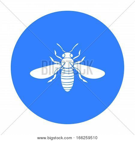 Bee icon in blue design isolated on white background. Insects symbol stock vector illustration.