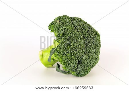 healthy green organic raw broccoli ready for cooking