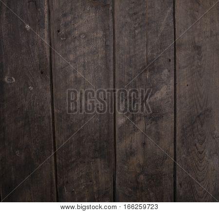 Dark Rustic Wooden Vertical Plank Board Background