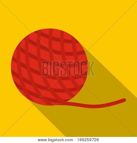 Yarn ball toy for cat icon. Flat illustration of yarn ball toy for cat vector icon for web design