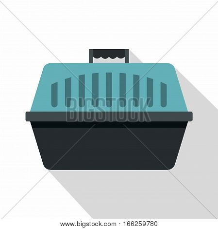 Pet carry case icon. Flat illustration of pet carry case vector icon for web design