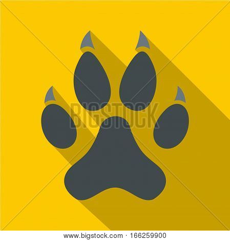 Cat paw icon. Flat illustration of cat paw vector icon for web design