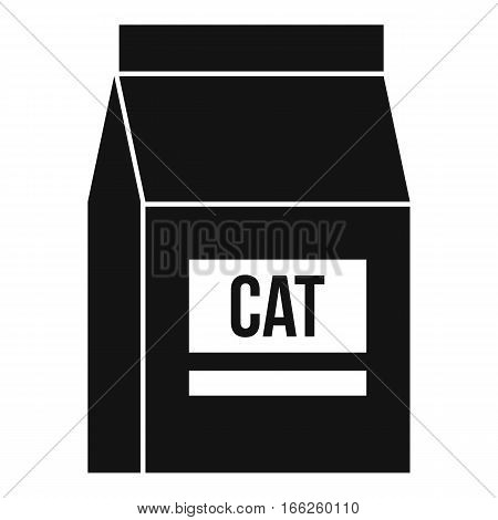 Cat food bag icon. Simple illustration of cat food bag vector icon for web design