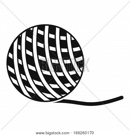 Yarn ball toy for cat icon. Simple illustration of yarn ball toy for cat vector icon for web design