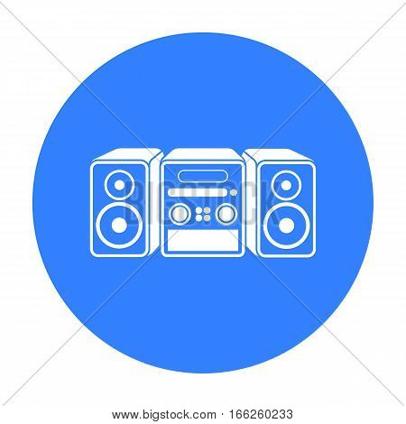 Music center icon isolated on white background. Household appliance symbol vector illustration.