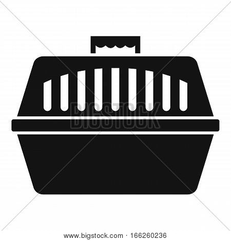 Pet carry case icon. Simple illustration of pet carry case vector icon for web design