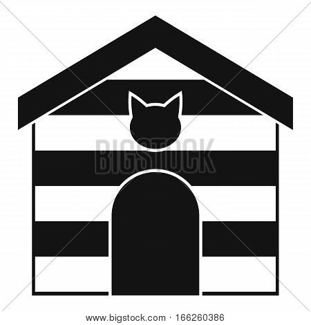 Cat house icon. Simple illustration of cat house vector icon for web design