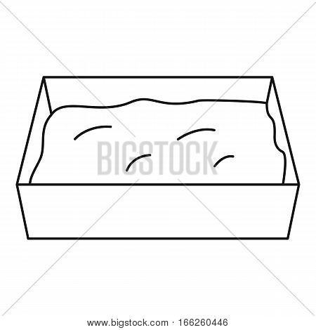 Cat toilet icon. Outline illustration of cat toilet vector icon for web design