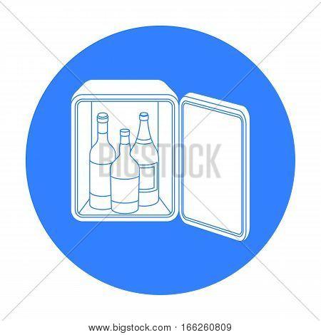 Mini-bar icon isolated on white background. Hotel symbol vector illustration.