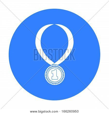 Gold medal for equestrian sport icon isolated on white background. Hippodrome and horse symbol stock vector illustration.