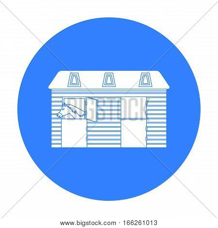 Horse stable icon isolated on white background. Hippodrome and horse symbol stock vector illustration.