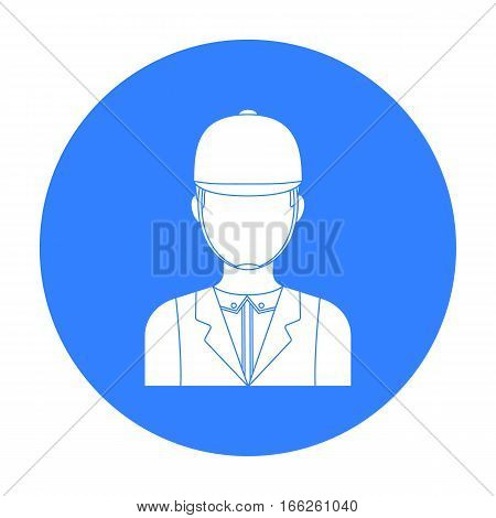 Jockey icon isolated on white background. Hippodrome and horse symbol stock vector illustration.