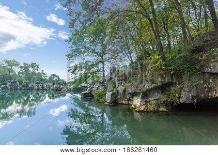 view of Yixing natural park in JiangsuChina.
