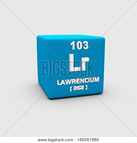 Lawrencium is a synthetic chemical element with chemical symbol Lr and atomic number 103.