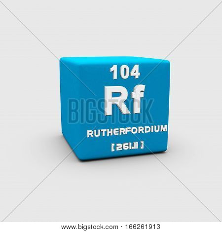 Rutherfordium is a chemical element with symbol Rf and atomic number 104, named in honor of physicist Ernest Rutherford.