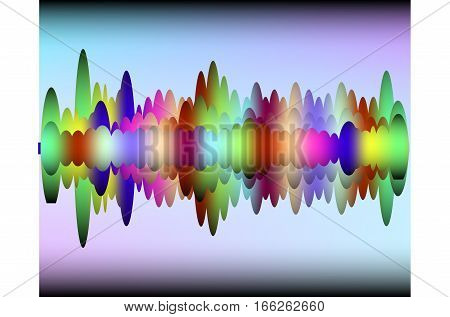 Digital equalizer. sound wave. musical backgrounds. Diagram  Vector illustration