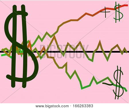 The functional form of world money. Monetary policy - in the field of monetary and currency relations, carried out by banks. Vector illustration