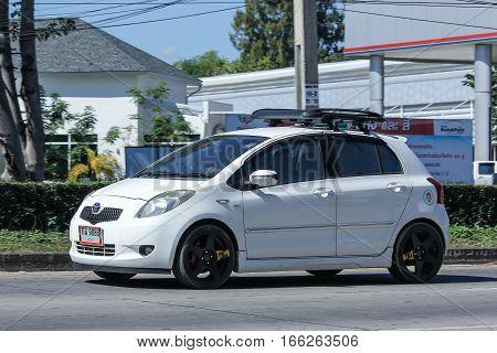 Private Car Toyota Yaris Eco Car.