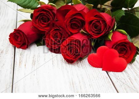 Red Roses And Heart
